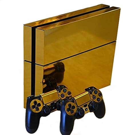 Gold Glossy Vinyl Skin Sticker for PS4 – PlayStation 4 Deals